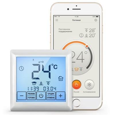 Терморегулятор Теплолюкс  MCS 350 сенсорный\программируемый  белый Wi-Fi