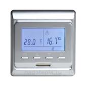 Терморегулятор E. 51 программируемый  серебро