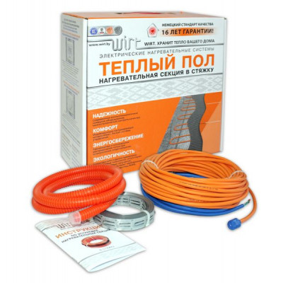 Комплект теплого пола Wirt -LTD-100-5  от 0,6 до 0,8 м2 стоимость указана с терморегулятором в комплекте